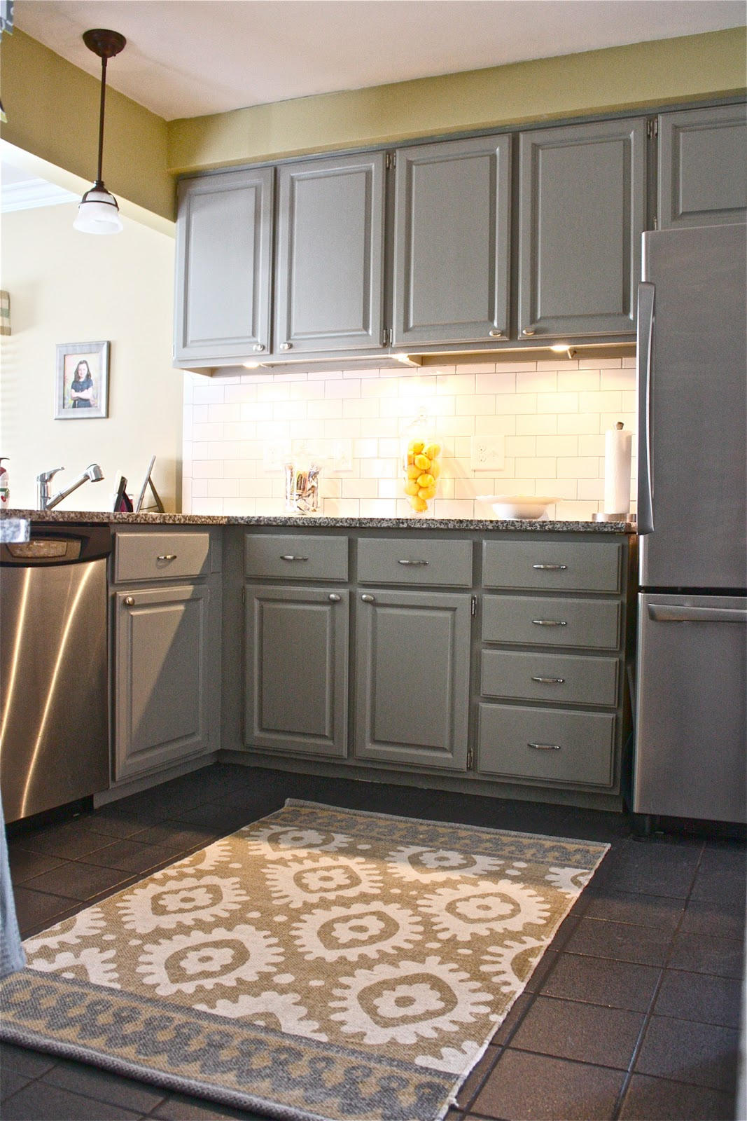astonishing yellow kitchen walls grey cabinets | The Yellow Cape Cod: Client Project~Kitchen~Before And After