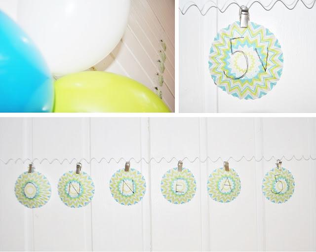 syntymäpäivä, koristeet, diy, ilmapallot, 5-vuotias, juhlat