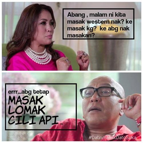 Datin Masak Dato' Suka (Astro), selebriti jemputan Datin Masak Datuk Suka 2015, rancangan memasak Astro, Kau Yang Masak Aku Yang Panas, artis undangan Resepi Memikat Suami