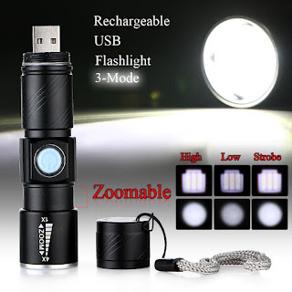 mini zoom ricaricabile R5 LED