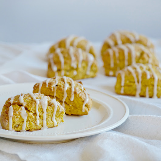 Pumpkin Ginger Scones with Maple Glaze