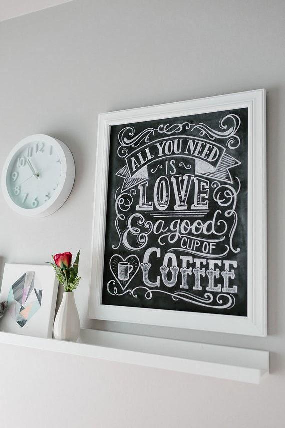 Coffee Chalkboard Chalk Art