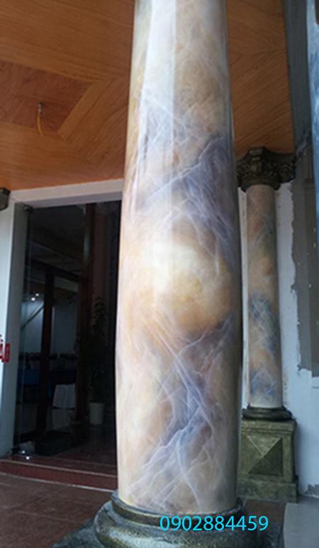 sơn cột giả đá cẩm thạch a