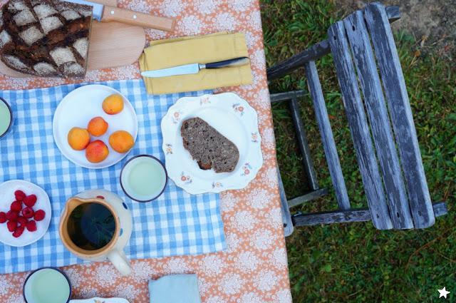 pain levain sourdough petit déjeuner outdoor