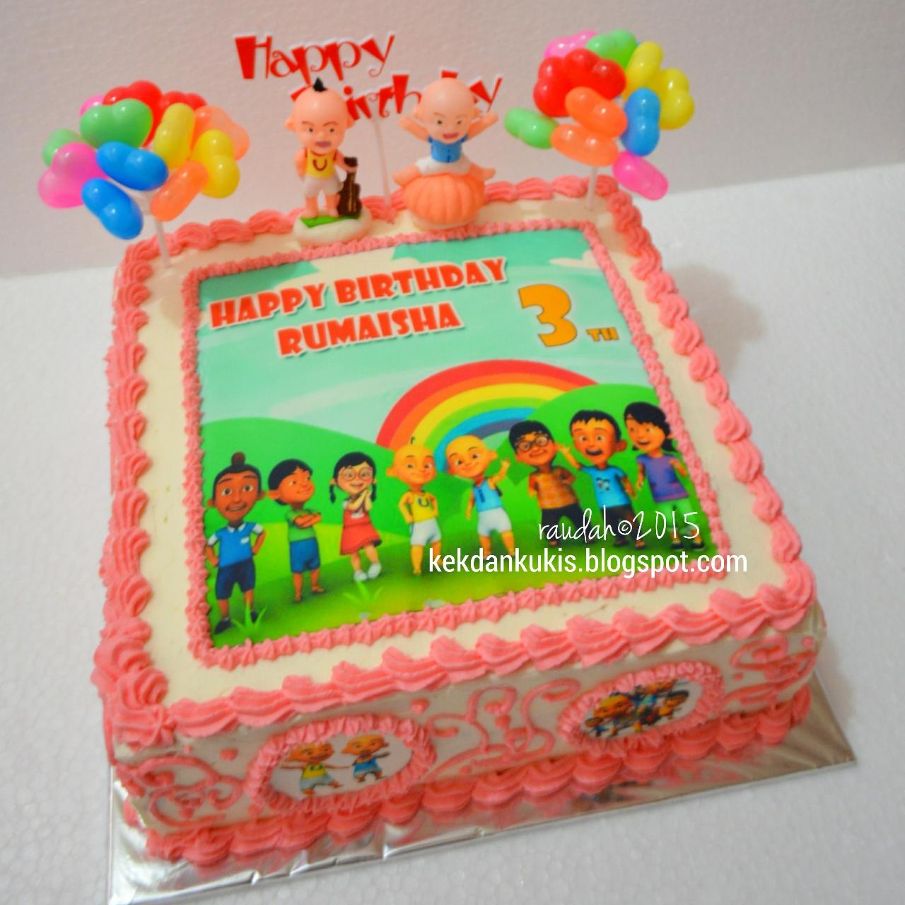 DAPUR CAKE DAN COOKIES UPIN IPIN BIRTHDAY CAKE FOR MAISHA