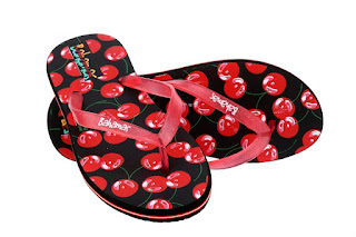 Relaxo Bahamas slippers in Black & Red. Price - Rs. 120