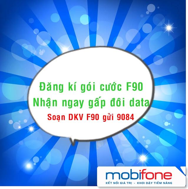 Khuyến mãi khủng đăng ký F90 Mobifone nhận Gấp Đôi Data đến hết 12/2017