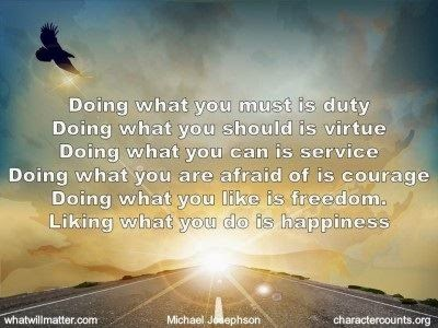 The power of doing