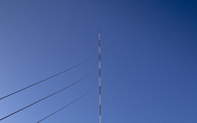 A antena KVLY, com 628,8m de altura, é a antena mais alta existente