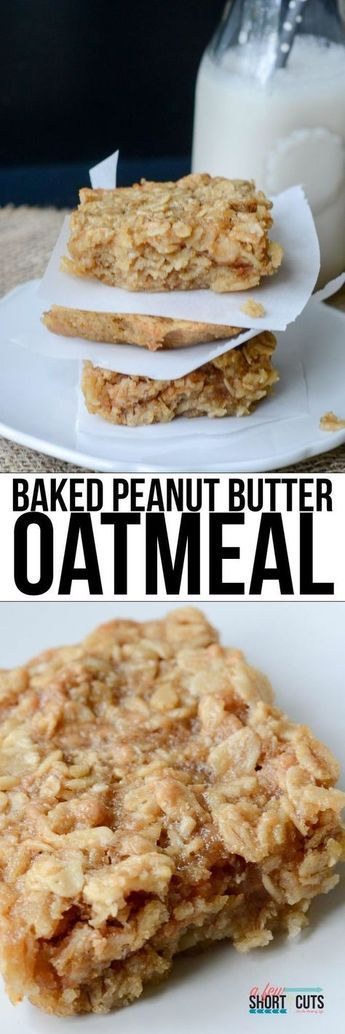 BAKED PEANUT BUTTER OATMEAL RECIPE