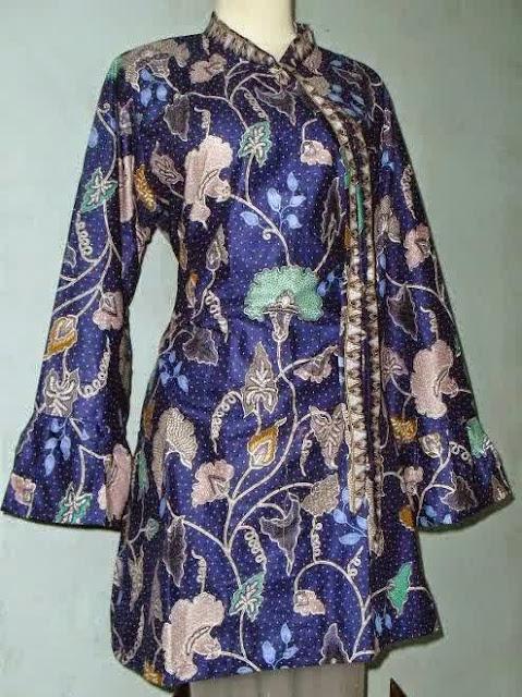 Baju Hamil Muslim Kombinasi Batik Untuk Kerja