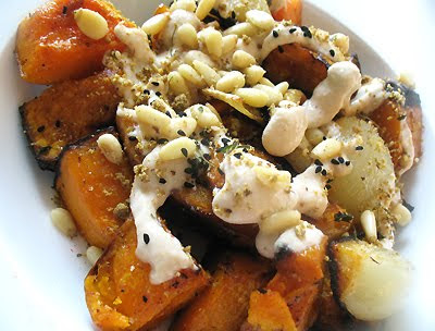 Roasted Squash with Tahini and Za'atar