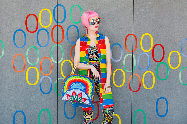 Agatha ruiz de la prada, rainbow look, circus fashion
