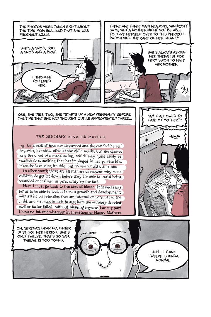 Page 33, Chapter 1: Ordinary Devoted Mother from Alison Bechdel's graphic novel Are You My Mother