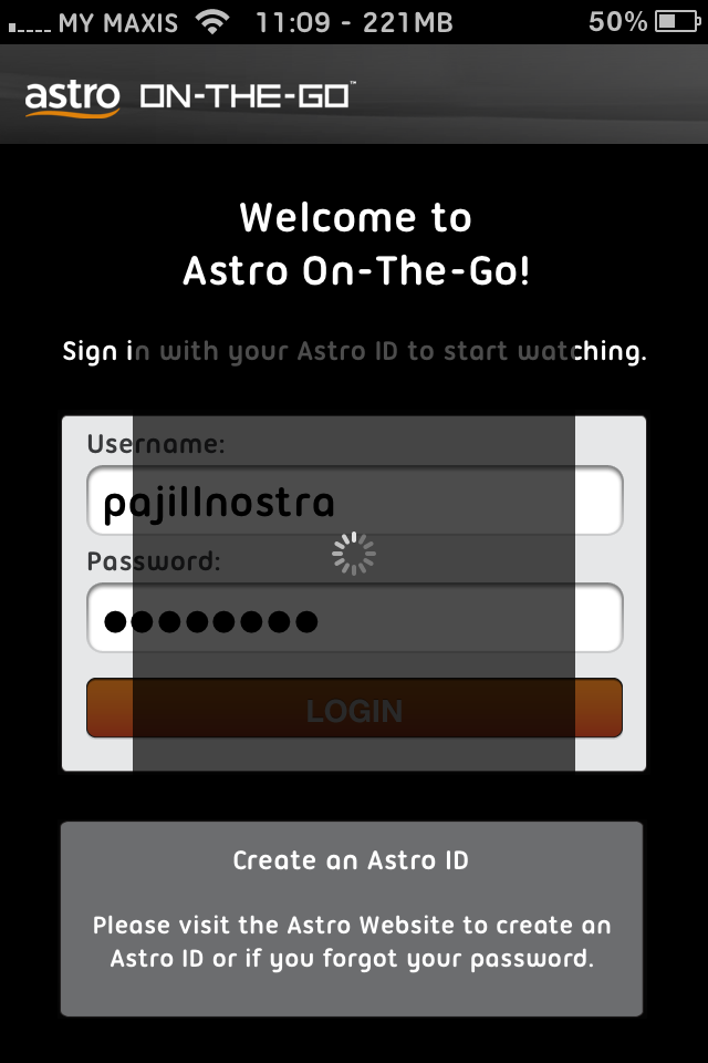 astro on the go free username and password
