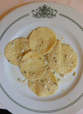 Croxetti with nut sauce, Albergo Amici, Varese Ligure.