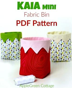 KAIA Mini Fabric Bin - NEW Pattern