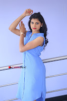 Telugu Actress Mounika UHD Stills in Blue Short Dress at Tik Tak Telugu Movie Audio Launch .COM 0035.JPG