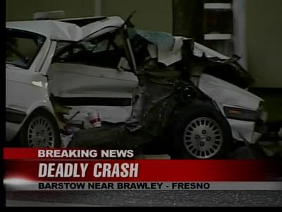 Fresno Visalia Bakersfield Accidents: Collision With Police Car in