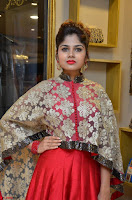 Anya South Actress model in Red Anarkali Dress at Splurge   Divalicious curtain raiser ~ Exclusive Celebrities Galleries 001.JPG
