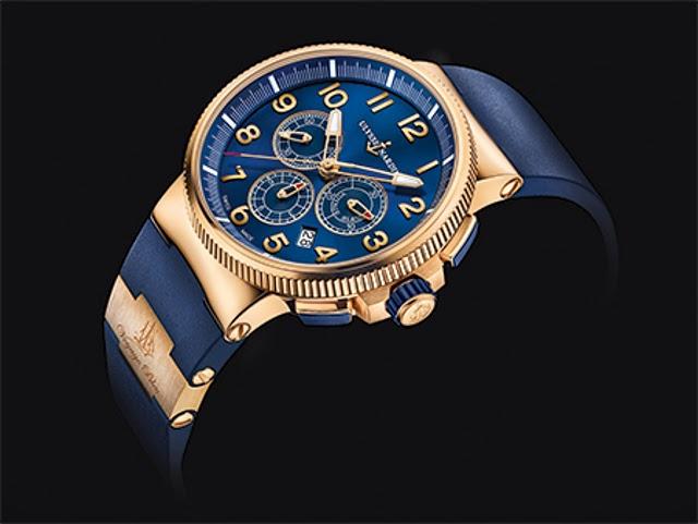 Ulysse Nardin Marine Chronograph Manufacture Voyage Bleu