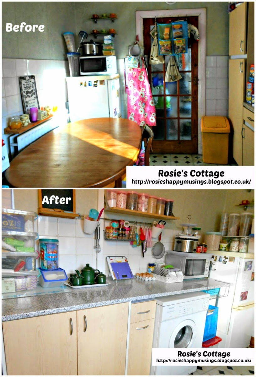 Kitchen makeover: before and after