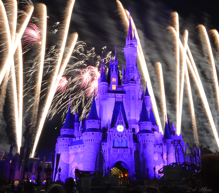 Cinderella Castle, Wishes the nighttime fireworks extravaganza in Magic Kingdom park.