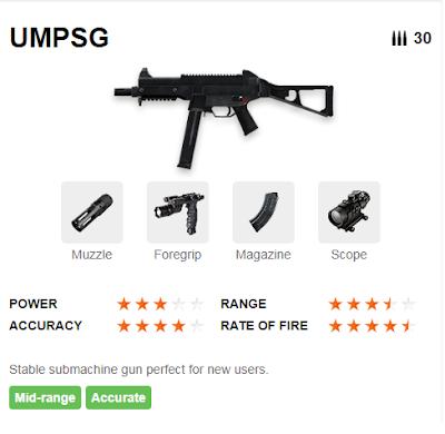 Deskripsi Senjata UMPSG di Free Fire
