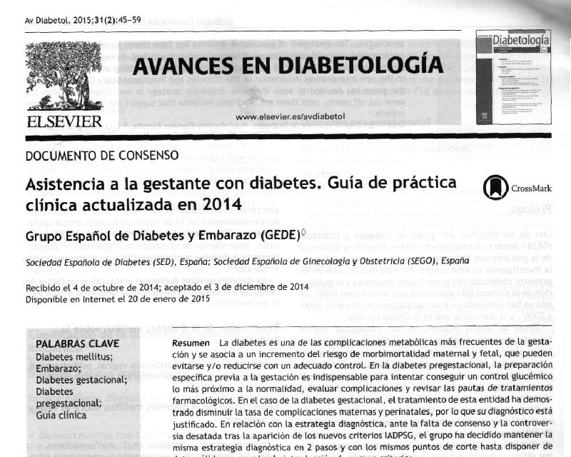 guia practica clinica diabetes embarazo