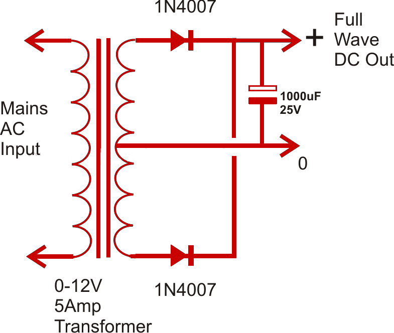 design a power supply circuit simple to complex power supply circuit using two diodes