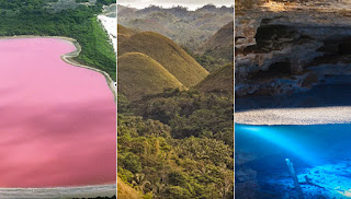 Three of the amazing places on Earth that really exist.