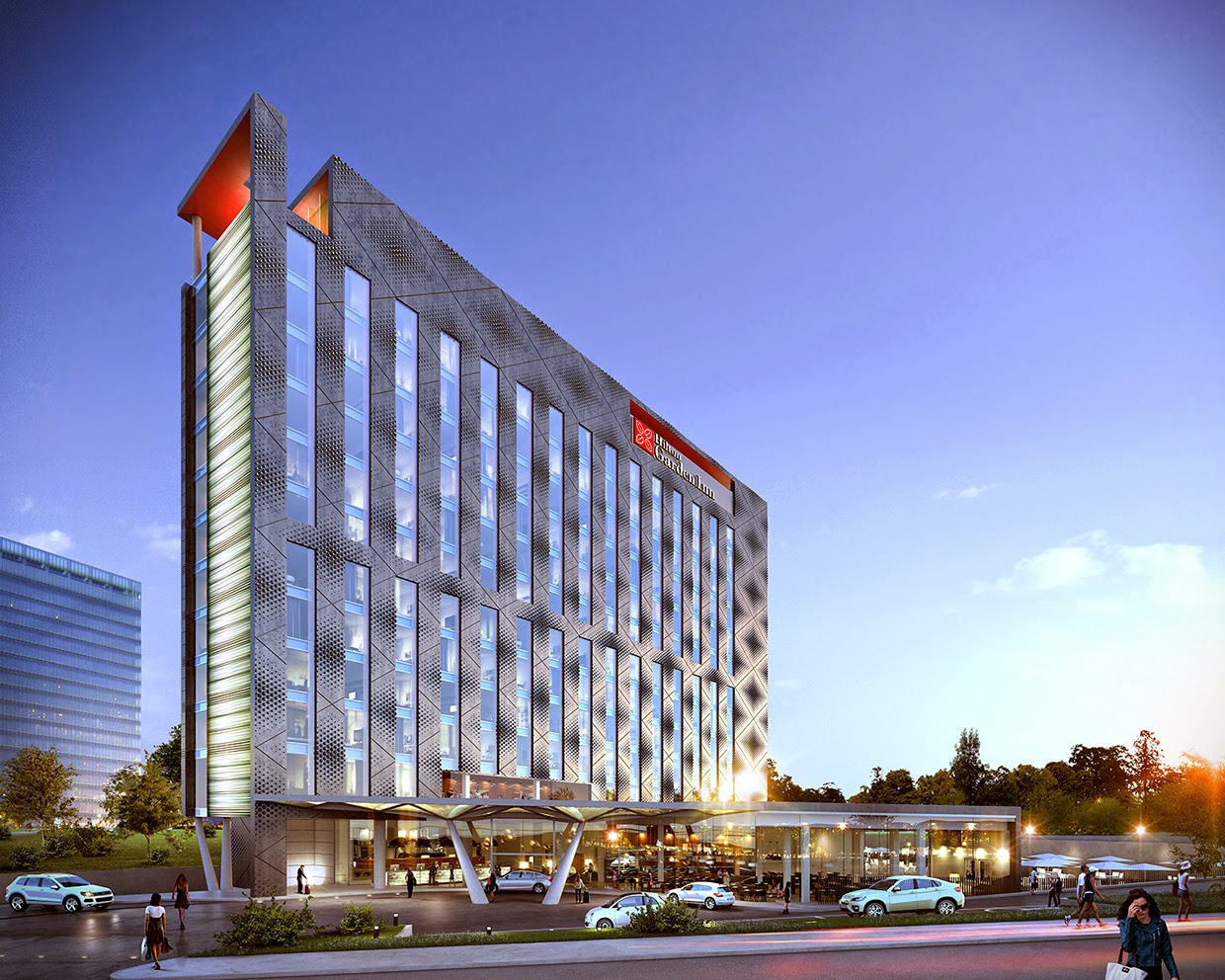 Visualization of urban complex in moscow for Design hotel urban