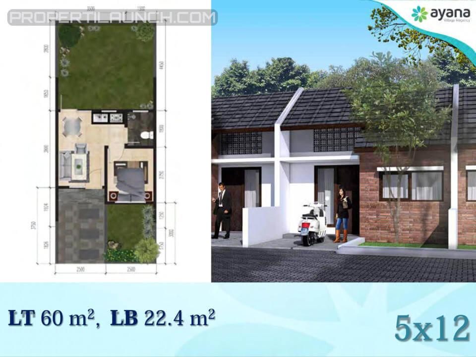 Tipe 22 Rumah Ayana Village Regency Tigaraksa