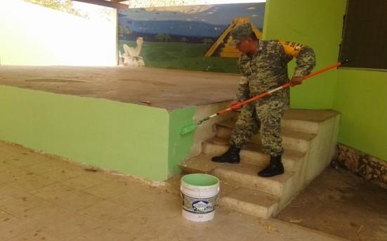 Militares realizan Labor Social en Umán