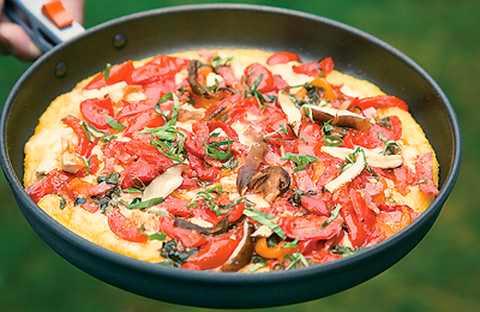 reteta simpla pizza polenta cu malai si carnati