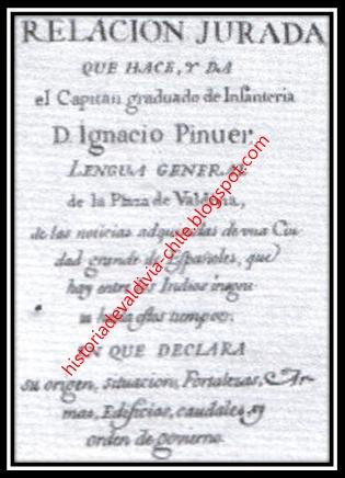 capitan ignacio pinuer y ubidia nace en valdivia cerca de