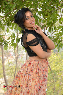 Actress Chetana Uttej Stills in Floral Long Skirt at Pichiga Nachav Movie Press Meet  0019.JPG