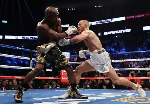 Floyd Mayweather wins with 10th round TK