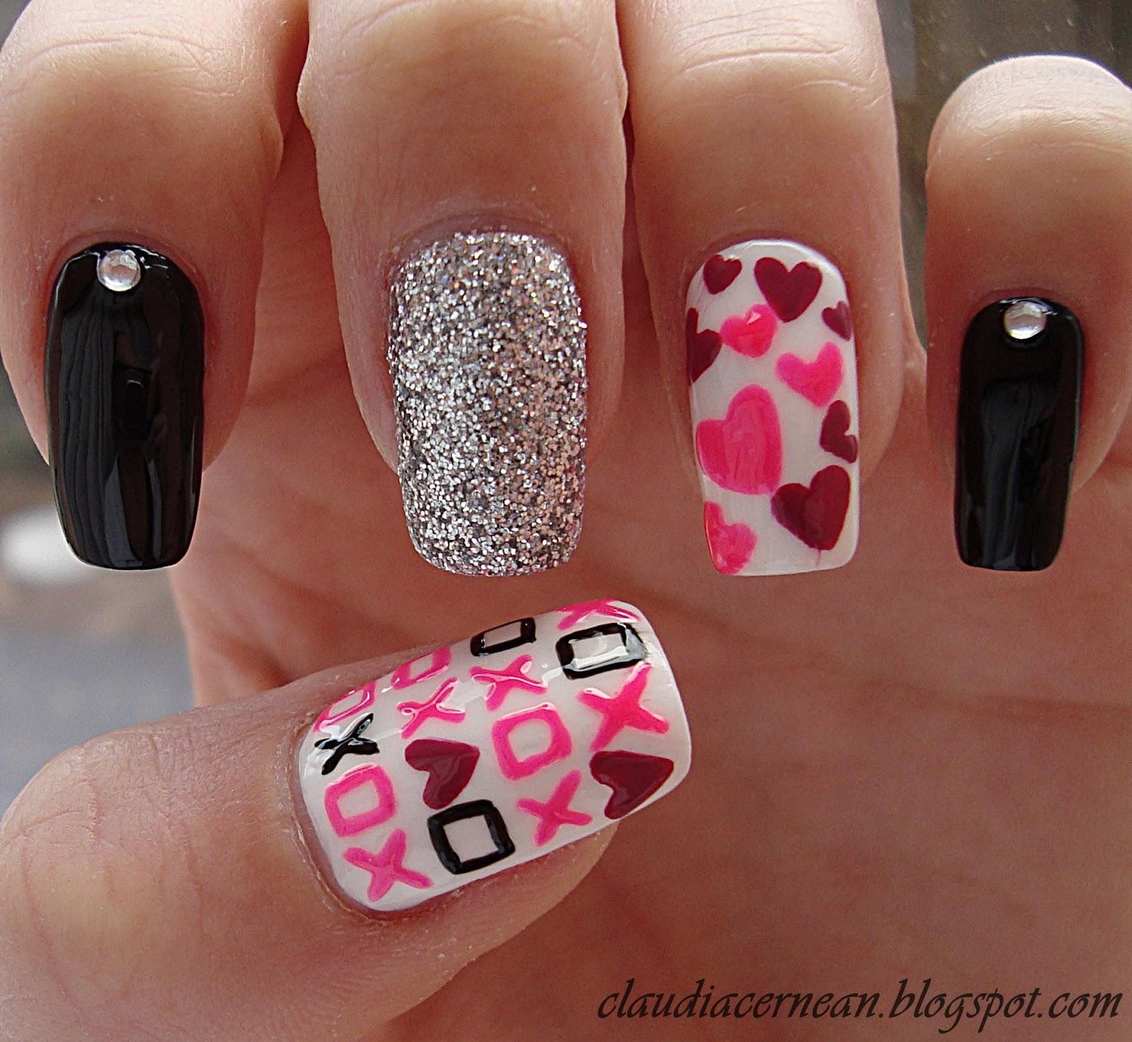 Nails Art Tutorials Unghii Pentru Ziua Indragostitilor