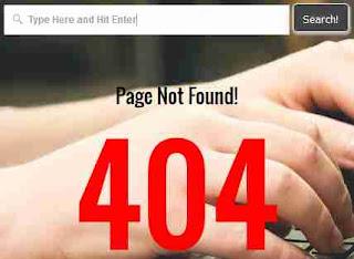 404 error page, custom 404 page, error page blogger
