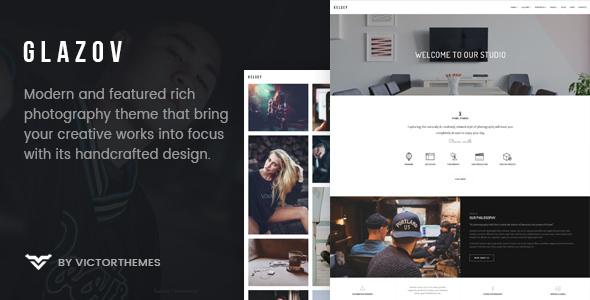 Glazov v1.0 – Photography WordPress Theme
