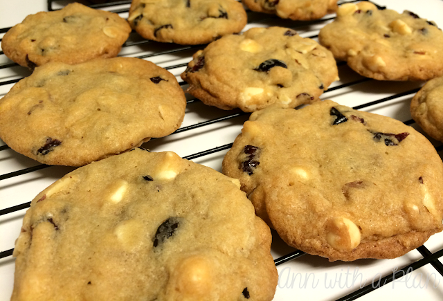 Ann with a plan: Almond Cranberry White Chocolate Cookies