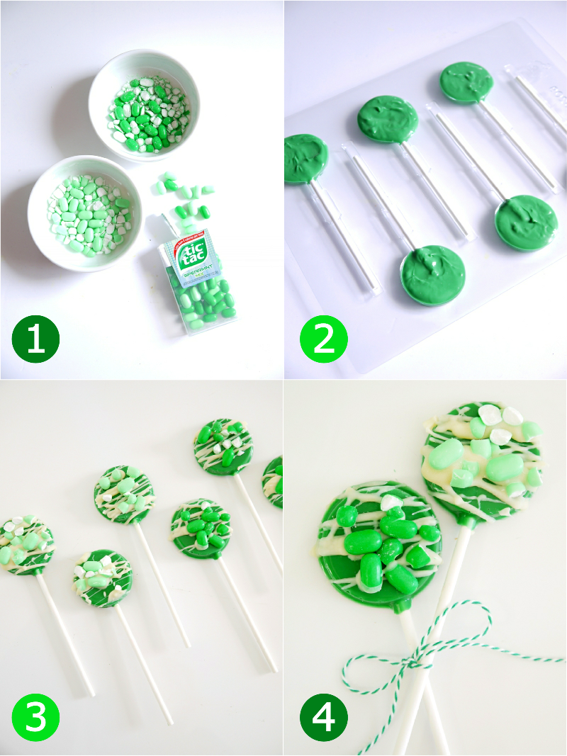 Party Recipes with Tic Tac® - Mint & Chocolate Lollipop Cupcake Toppers