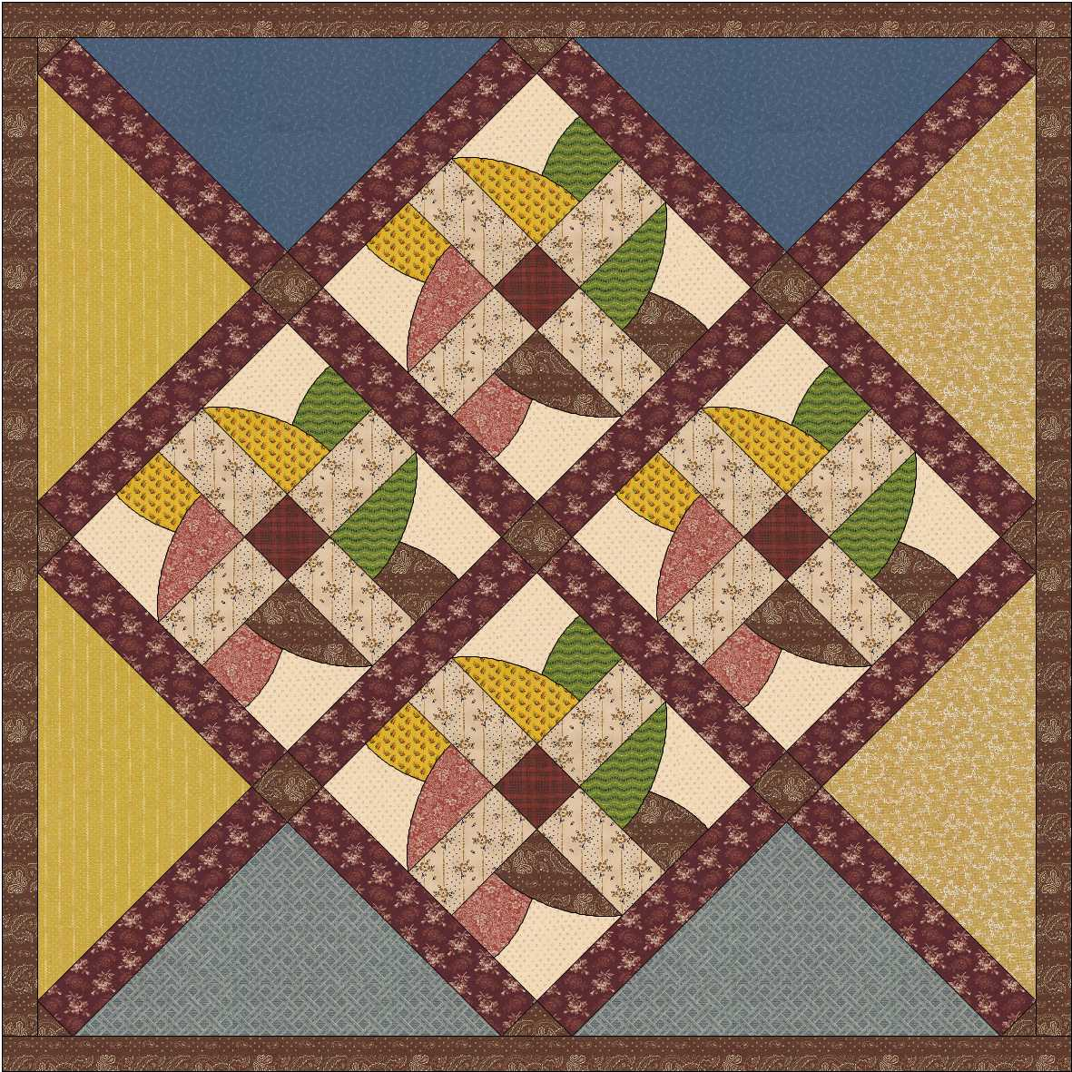 Country Rose Quilts: Block 2 -Wo die Liebe hinfällt