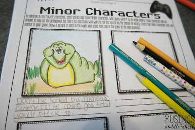 Students need to create major and minor characters for their video game.