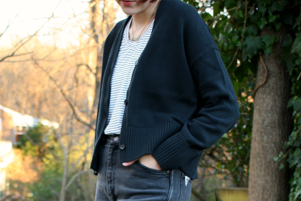 Everlane Soft Cotton Square Cardigan Review, size XS