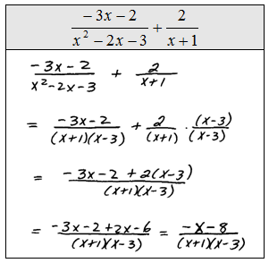 OpenAlgebra.com: Adding and Subtracting Rational Expressions