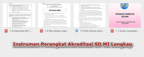 Instrumen Perangkat Akreditasi SD MI Lengkap