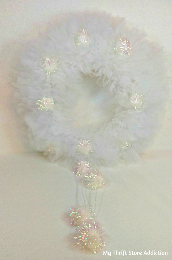 Winter wonderland tulle wreath