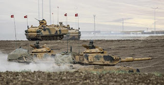 ongoing military drill at the Turkey's border with northern Iraq